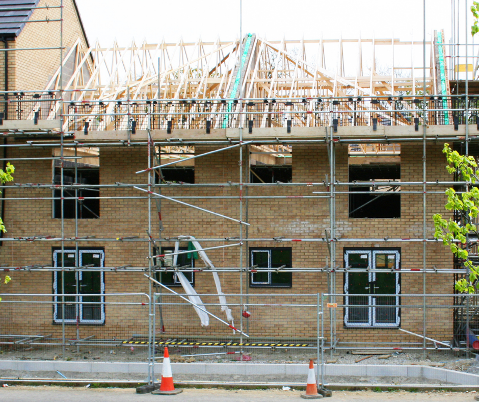 shell of a house being built